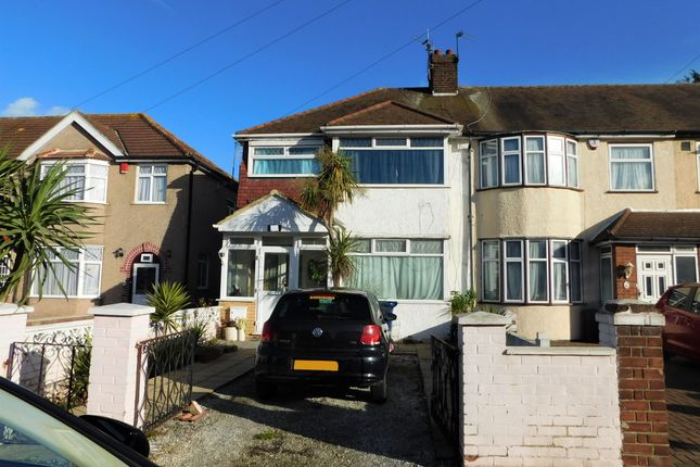 Thumbnail End terrace house for sale in Derwent Road, Southall