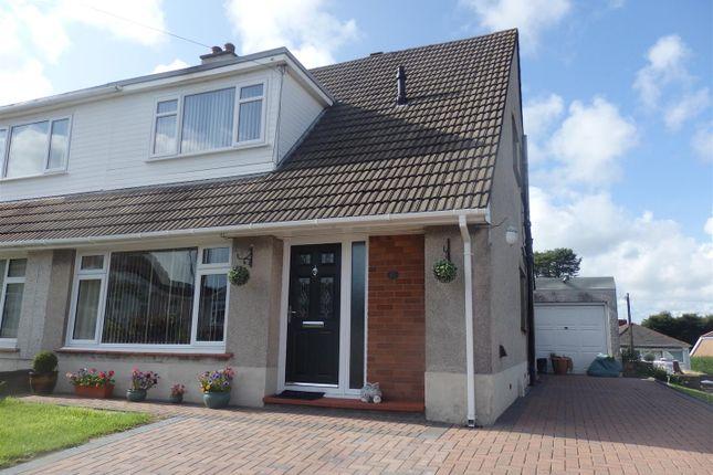 Thumbnail Semi-detached house for sale in Cleviston Park, Llangennech, Llanelli