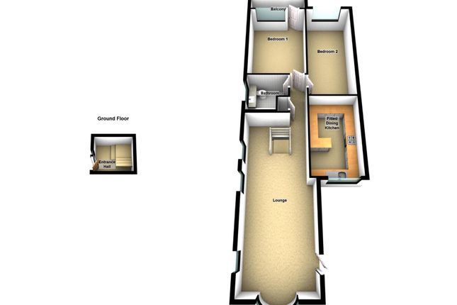 3d Floor Plan of Park Road, Southport PR9