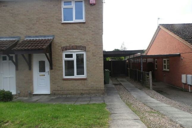 Thumbnail Semi-detached house to rent in Meadow Court, Narborough, Leicester