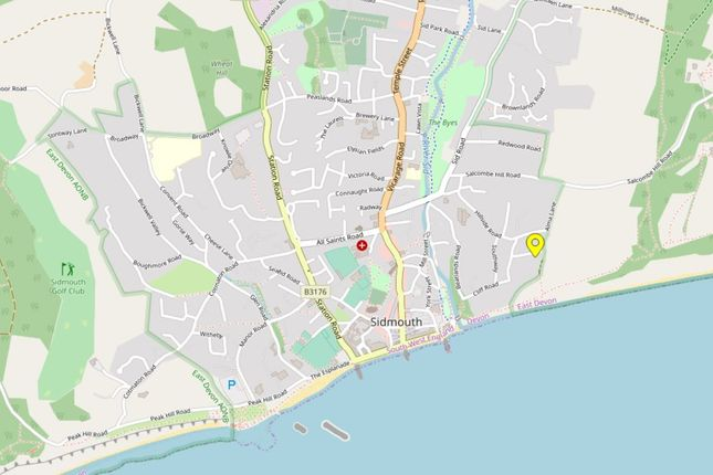 Location of Laskeys Lane, Sidmouth EX10