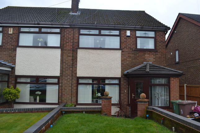 Thumbnail Semi-detached house for sale in New Glade Hill, St Helens, Merseyside