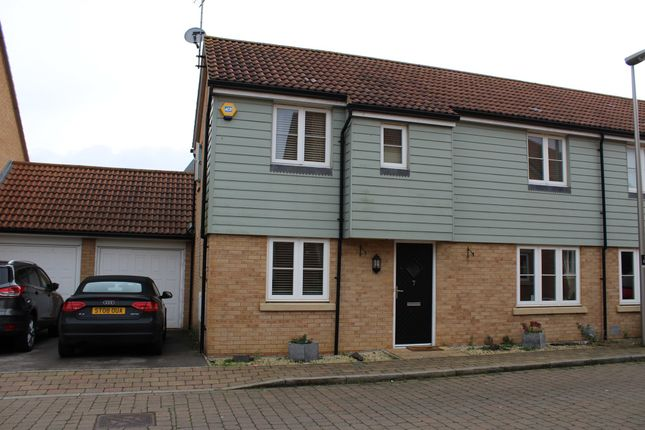 Thumbnail Semi-detached house for sale in Cagney Crescent, Oxley Park, Milton Keynes
