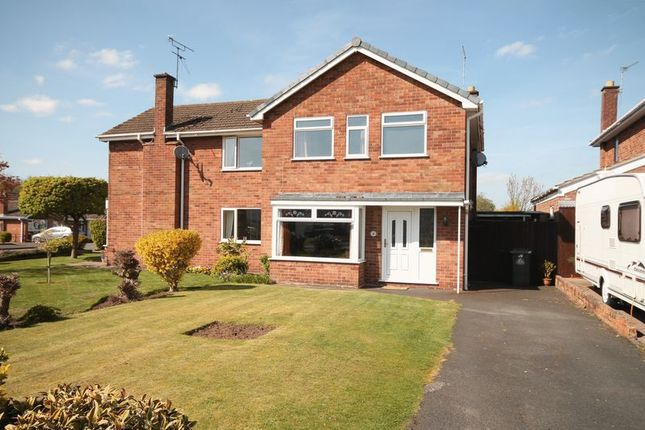 Thumbnail Semi-detached house for sale in Sherwood Crescent, Market Drayton
