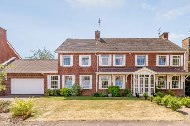Thumbnail Detached house for sale in Cranborne Gardens, Oadby, Leicester