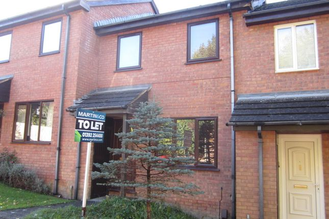 Thumbnail Terraced house to rent in Linnet Close, Exeter