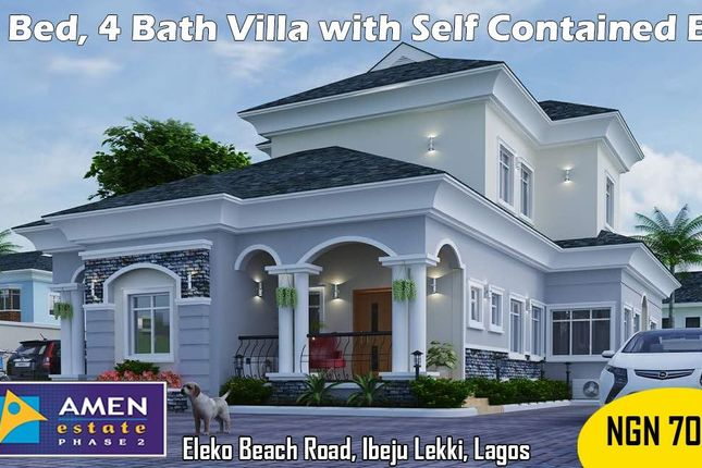 Villa for sale in Amen Estate Phase 2, Eleko Beach Road, Ajah, Ibeju Lekki, Lagos
