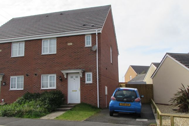 Thumbnail Semi-detached house to rent in Heol Y Fronfaith Fawr, Broadlands, Bridgend.