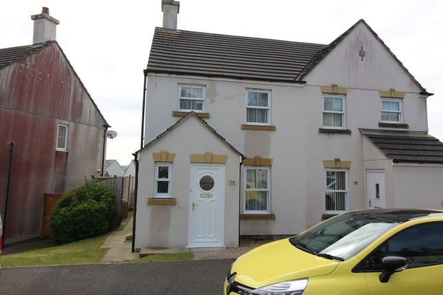 Thumbnail Semi-detached house to rent in Grassmere Way, Pillmere, Saltash