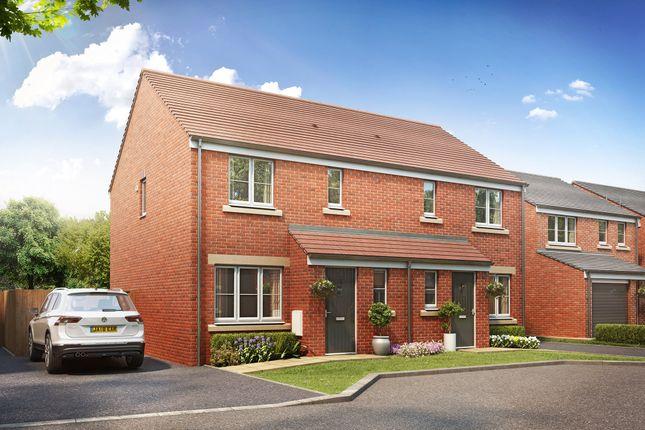 "Thumbnail Semi-detached house for sale in ""The Hanbury"" at Brickburn Close, Hampton Centre, Peterborough"
