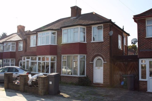 Thumbnail Semi-detached house to rent in Angus Gardens, Colindale, London, U.K