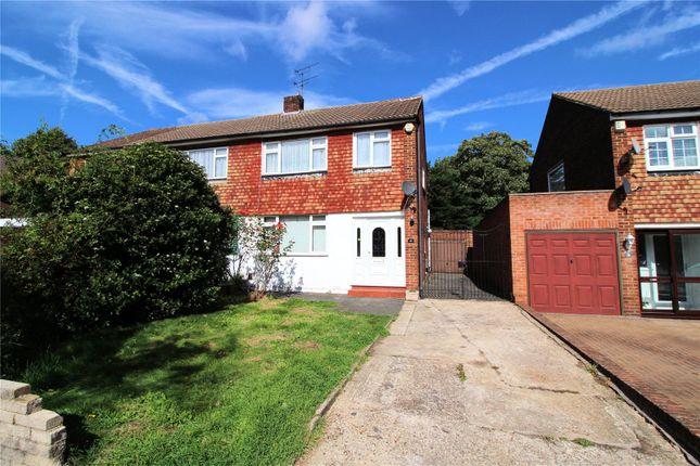 Thumbnail Semi-detached house for sale in Park Crescent, Lesney Park, Erith, Kent