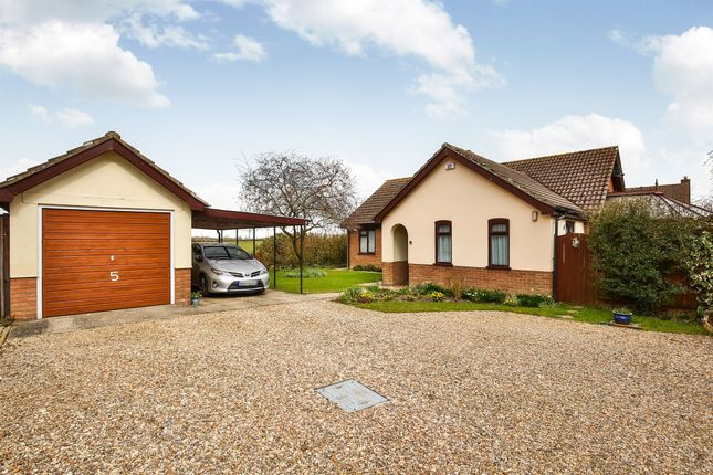 Thumbnail Detached bungalow for sale in The Poplars, Forncett St. Peter, Norwich