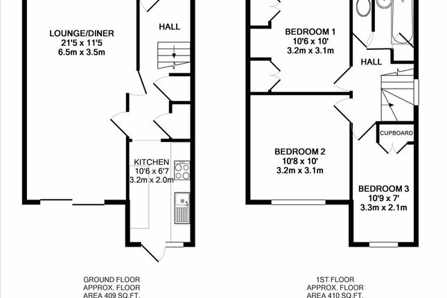 Floor Plan of Charlton Road, Kenton, Harrow HA3