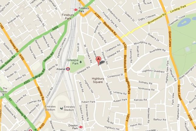 Location of Eaststand Apartments, Highbury Stadium Square, London N5