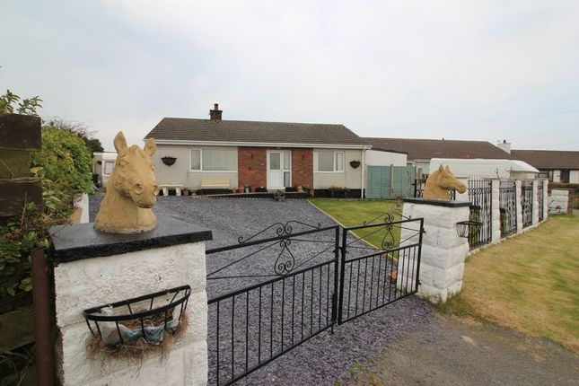 Thumbnail Detached bungalow for sale in Penbodeistedd, Llanfechell, Amlwch