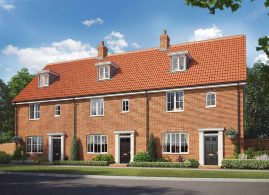 Thumbnail Terraced house for sale in The, Oakley Park, Mulbarton, Norfolk