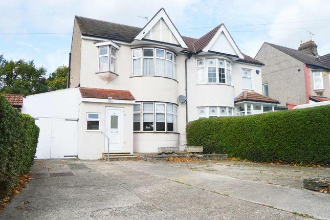 Thumbnail Semi-detached house for sale in Fairholme Avenue, Gidea Park, Romford