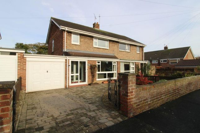 Thumbnail Semi-detached house for sale in Thornhill Road, Ponteland, Newcastle Upon Tyne, Northumberland