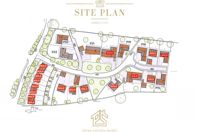 Site Plan of Middle Lane, Thorpe-On-The-Hill, Lincoln LN6