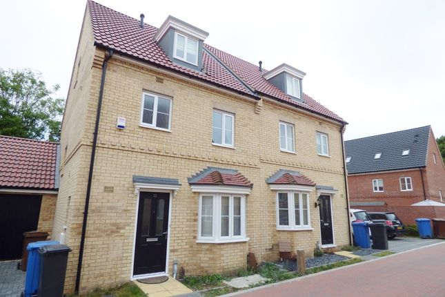 Thumbnail Semi-detached house to rent in Malkin Close, Ipswich