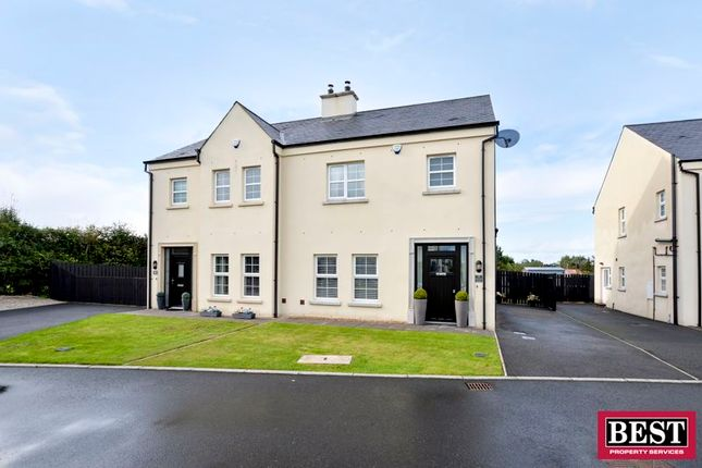Thumbnail Semi-detached house for sale in Ardress Manor, Portadown, Craigavon