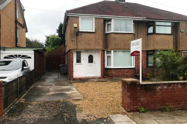 Thumbnail 3 bed semi-detached house for sale in Irby Road, Heswall, Wirral