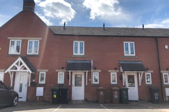 Thumbnail Town house to rent in Moray Close, Church Gresley, Swadlincote