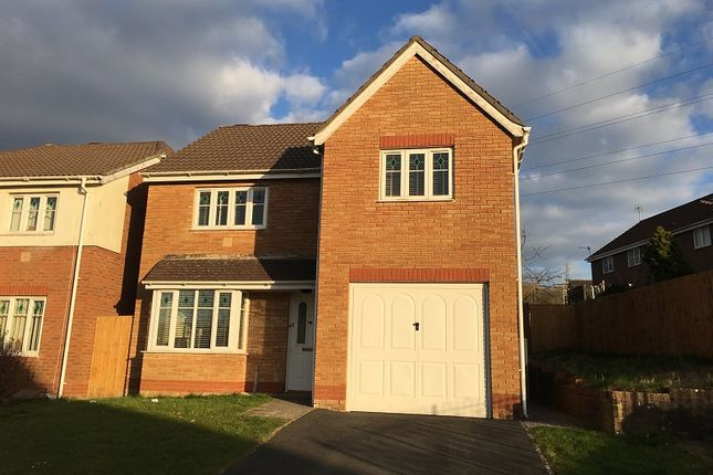 Thumbnail Detached house for sale in Derwen View, Brackla, Bridgend.