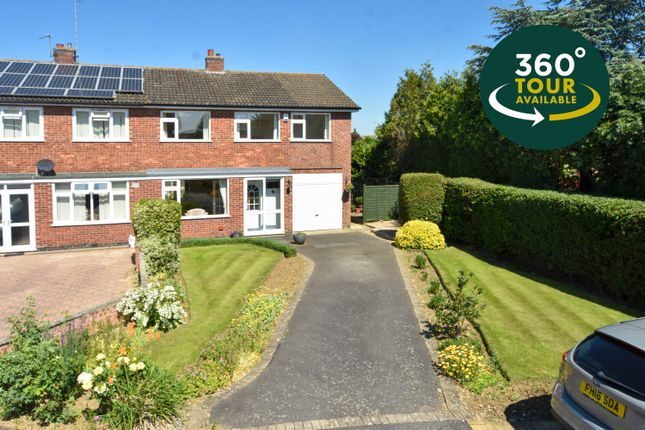 4 bed semi-detached house for sale in Kensington Close, Oadby, Leicester LE2