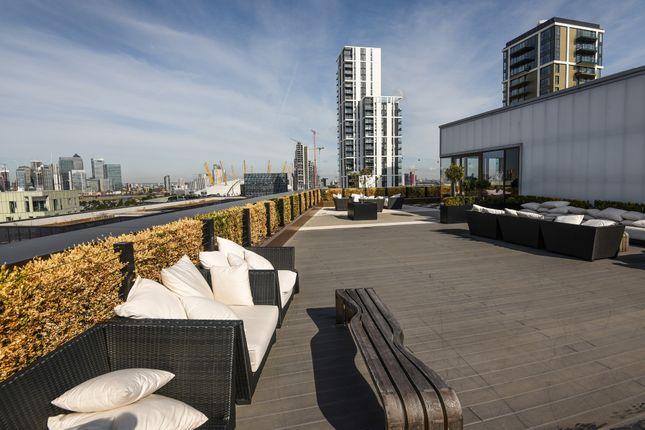 Roof Terrace of The Fulmar, 21 Reminder Lane, Lower Riverside, Greenwich Peninsula SE10
