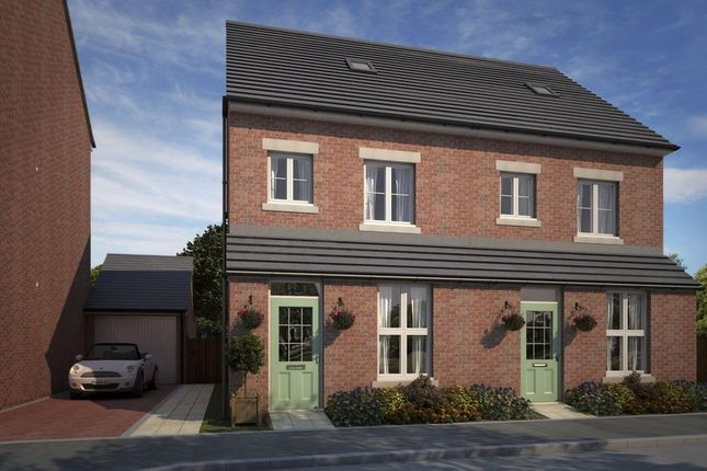 "Thumbnail Semi-detached house for sale in ""Woodstone"" at Whitworth Park Drive, Houghton Le Spring"