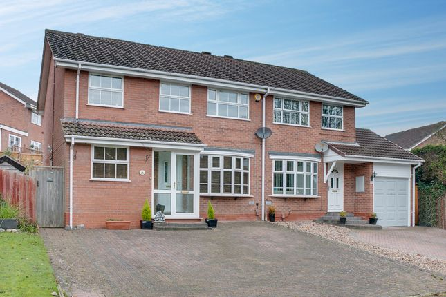 Thumbnail Semi-detached house for sale in Rosehall Close, Redditch