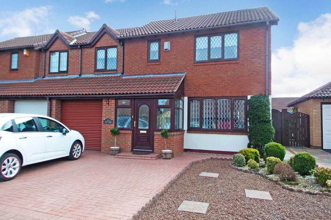 Thumbnail Semi-detached house for sale in Burnet Court, Ashington