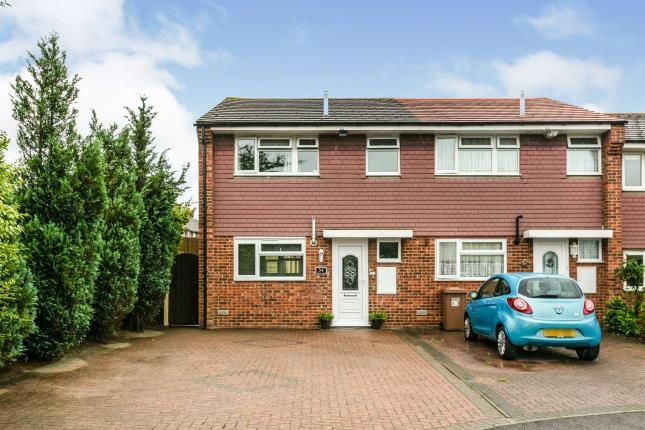 Thumbnail End terrace house for sale in Turnbull Close, Greenhithe, Kent