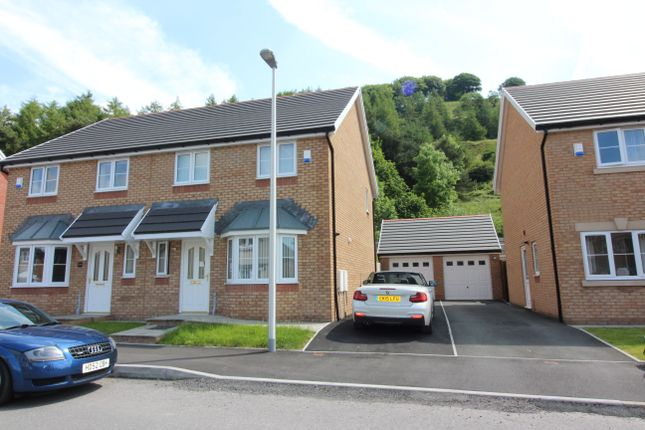 Thumbnail Semi-detached house to rent in Peacehaven Court, Tredegar