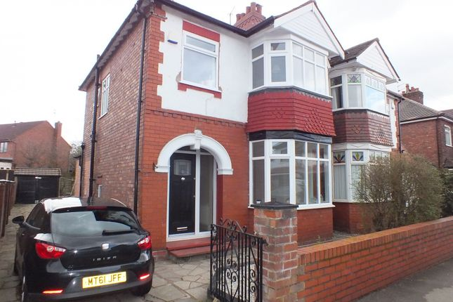 Thumbnail Semi-detached house to rent in Curzon Road, Stockport, Cheshire