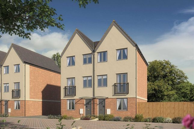 "Thumbnail Semi-detached house for sale in ""The Greyfriars "" at Neath Road, Landore, Swansea"