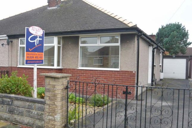 Thumbnail Semi-detached bungalow to rent in Strickland Drive, Morecambe