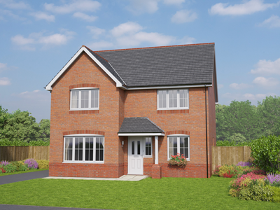 Thumbnail Detached house for sale in The Brecon, Alltami Road, Buckley, Flintshire