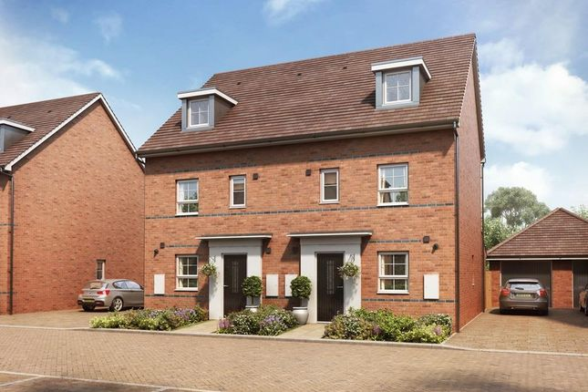 """Thumbnail Semi-detached house for sale in """"Woodcroft"""" at Hanworth Lane, Chertsey"""