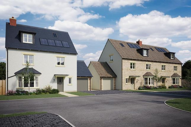 Thumbnail Detached house for sale in Applegarth Court, Witney, Oxfordshire