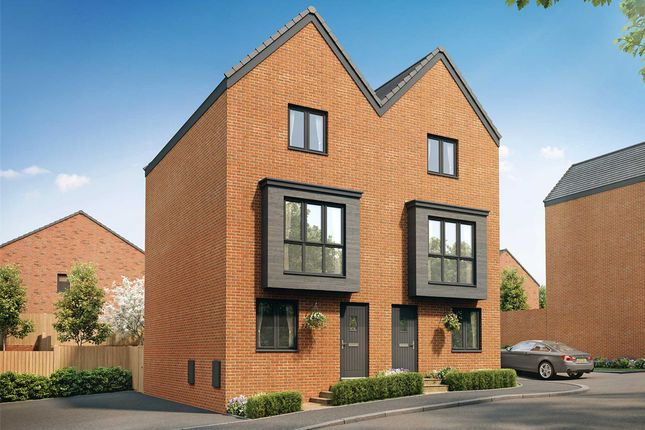 """Thumbnail Semi-detached house for sale in """"The Greyfrairs"""" at Church Road, Old St. Mellons, Cardiff"""