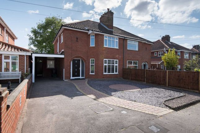 Thumbnail Semi-detached house for sale in Lady Betty Road, Norwich