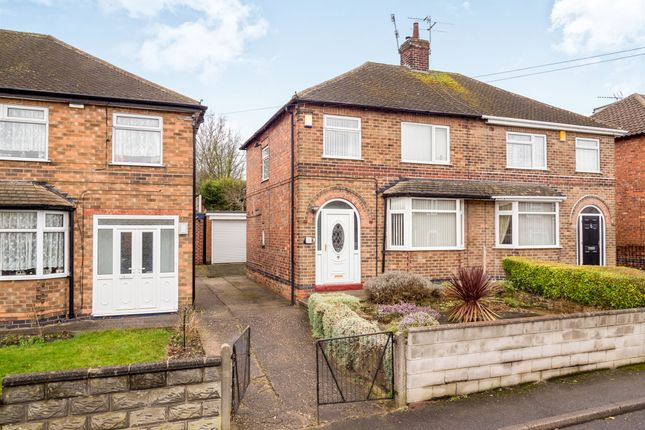 Thumbnail Semi-detached house for sale in Northolme Avenue, Bulwell, Nottingham