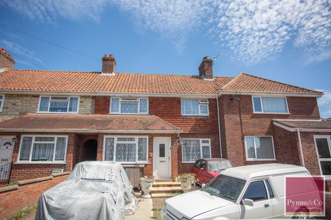 Thumbnail Terraced house for sale in East Hills Road, New Costessey, Norwich
