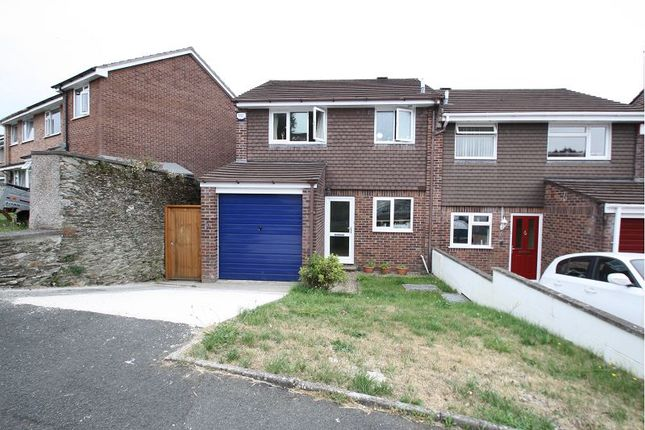 Thumbnail Semi-detached house to rent in Mary Dean Avenue, Tamerton Foliot, Plymouth