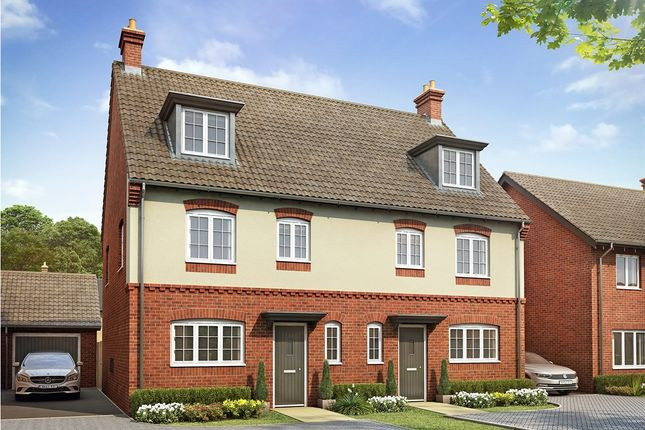 """Thumbnail Semi-detached house for sale in """"The Leicester """" at Bannold Road, Waterbeach, Cambridge"""
