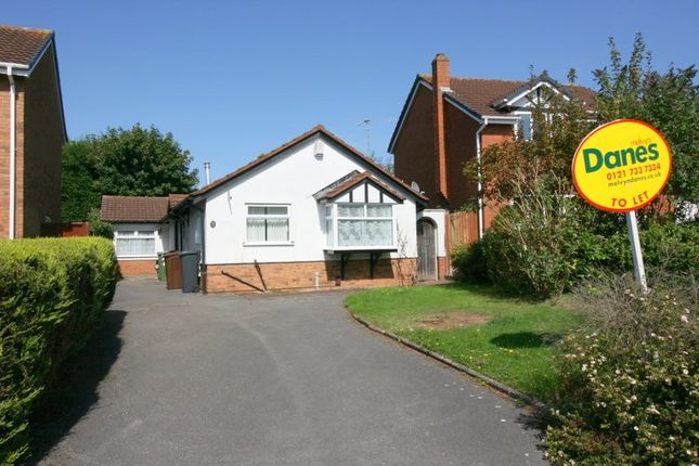 Thumbnail Detached bungalow to rent in Knowlands Road, Shirley, Solihull