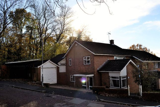 Thumbnail Semi-detached house to rent in Paddock Rise, Llanyravon, Cwmbran